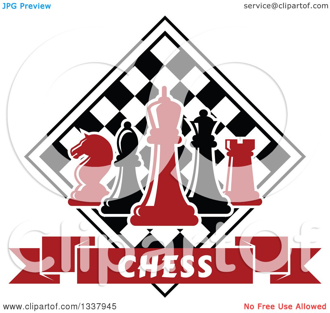 1080x1024 Clipart Of Red And Black Chess Pieces Against A Checker Board
