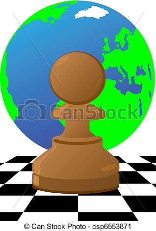 318x470 Pawn The Chessboard. Abstract Image Of Chess Pieces