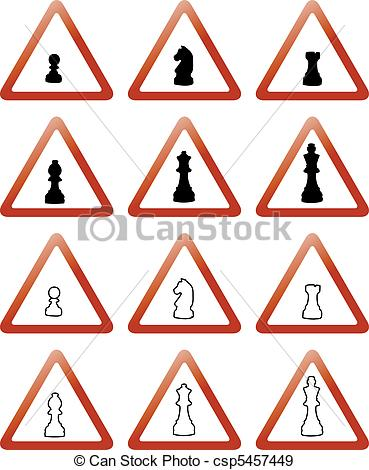 369x470 Trafic Signs With Chess Pieces.