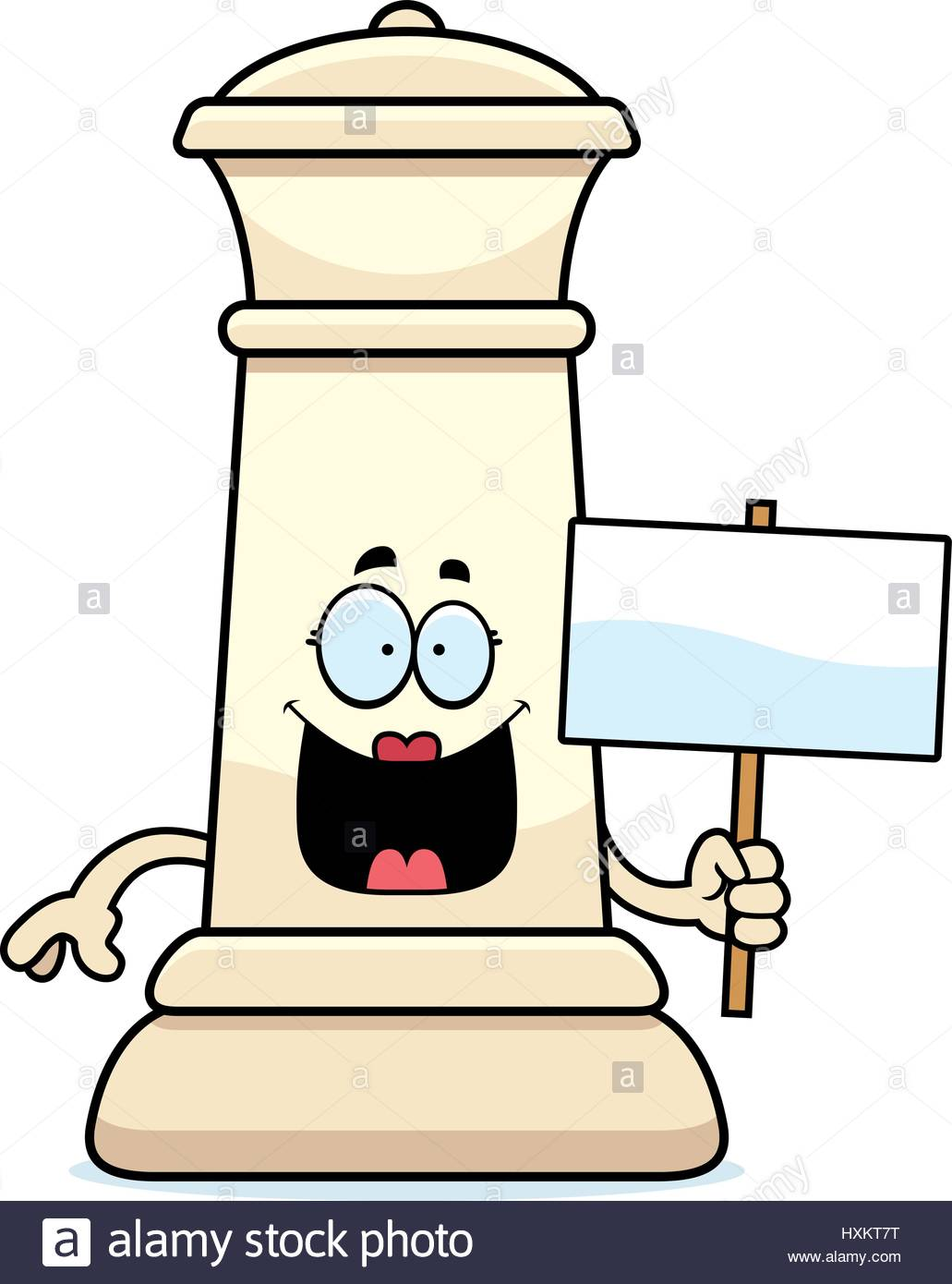 1031x1390 A Cartoon Illustration Of A Queen Chess Piece Holding A Sign Stock