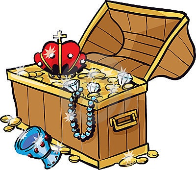400x347 Enchanting Treasure Clipart Chest Of Gold And Jewels Clip Art