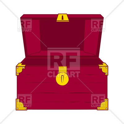 400x400 Illustration Of Open Wooden Treasure Chest With Nothing In It
