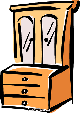 342x480 Chest Of Drawers Royalty Free Vector Clip Art Illustration