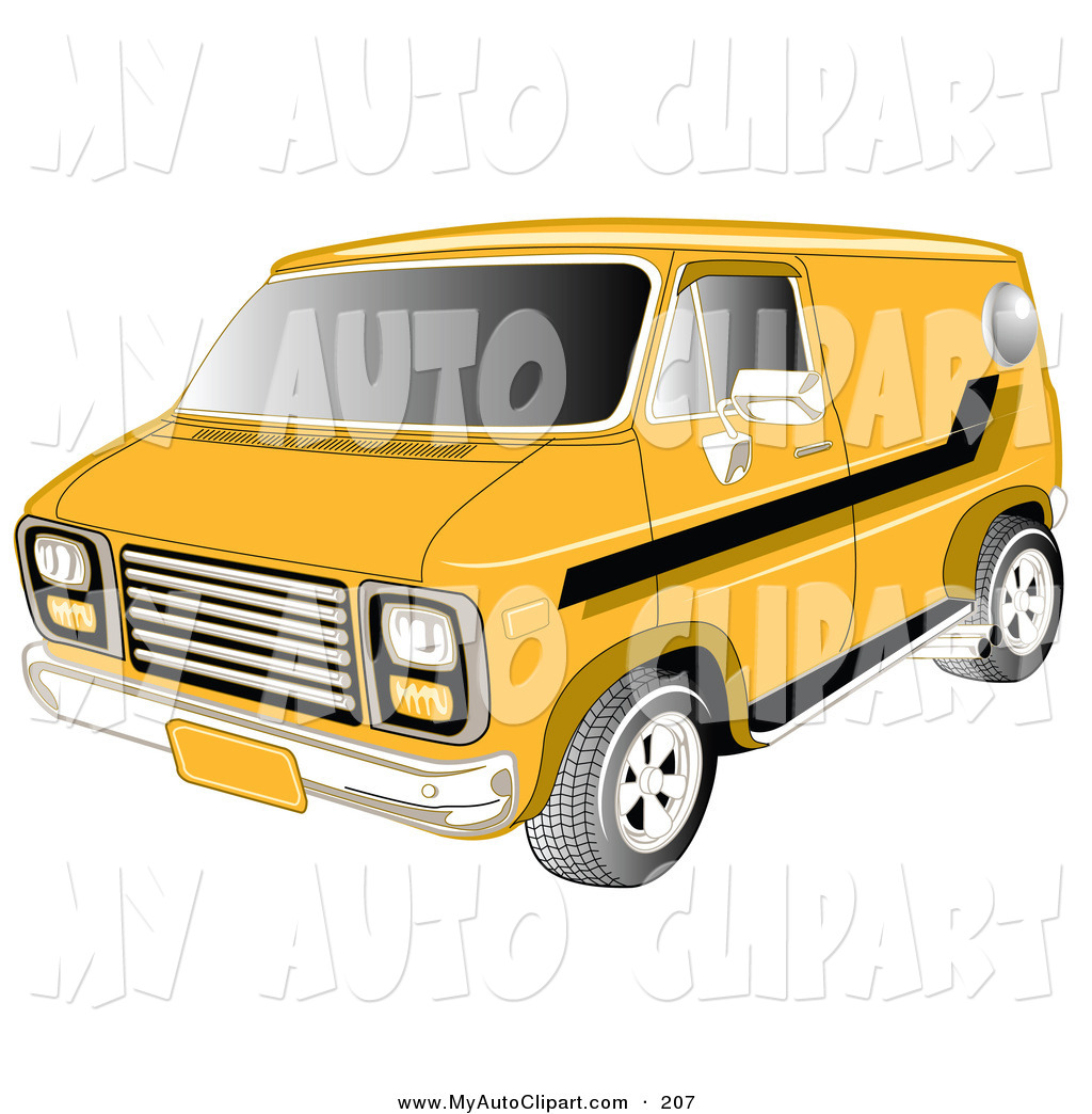 1024x1044 Clip Art Of A Yellow 1979 Chevy Van With Tinted Windows And Black