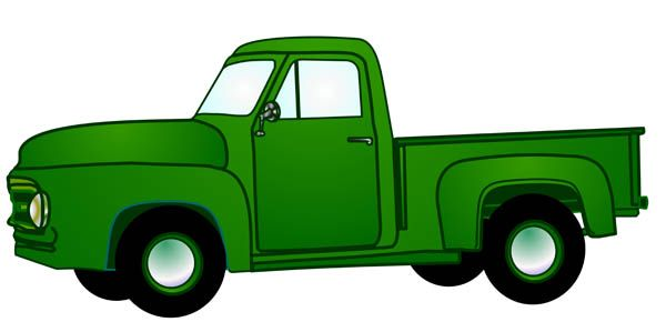 600x299 Old Pickup Truck Clip Art