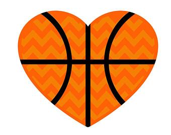 340x270 Basketball Heart Clipart