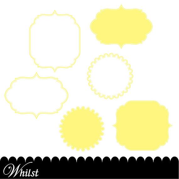 570x570 Yellow Clip Art Frame Clipart Digital Paper Diagonal Polka Dot