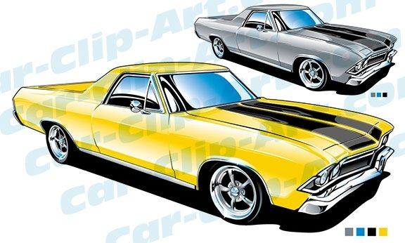 576x346 1968 Chevy El Camino Clip Art El Camino, Clip Art And Vector Art