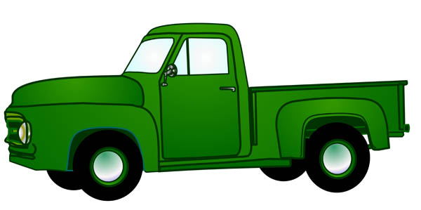 600x299 Chevy Pickup Truck Clipart Image