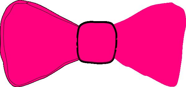 600x280 Pink Bow Tie Clip Art