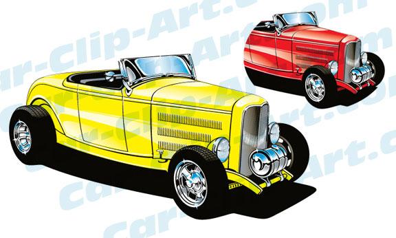 576x346 1932 Deuce Coupe Hot Rod Vector Clip Art Car Clip