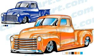 300x180 Custom 1953 Chevy Truck Clip Art Clip Art, Custom Chevy Trucks