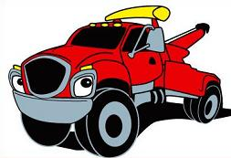 253x173 Flatbed Tow Truck Clip Art