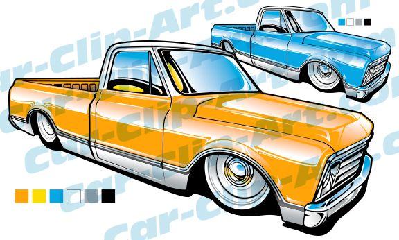 576x346 1968 1969 Chevy Truck Vector Art Car Drawings, Cars And Slammed