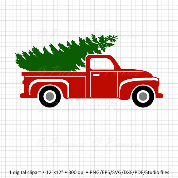 570x570 Old Truck With Tree Clipart