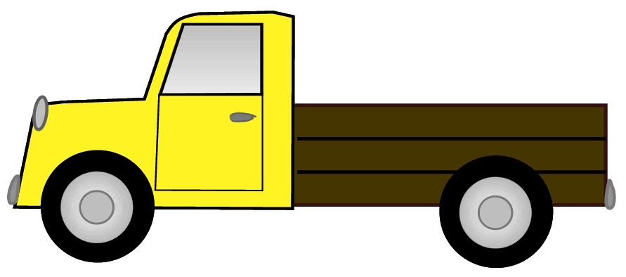 891x394 Pickup Truck Clipart Black And White Free 2