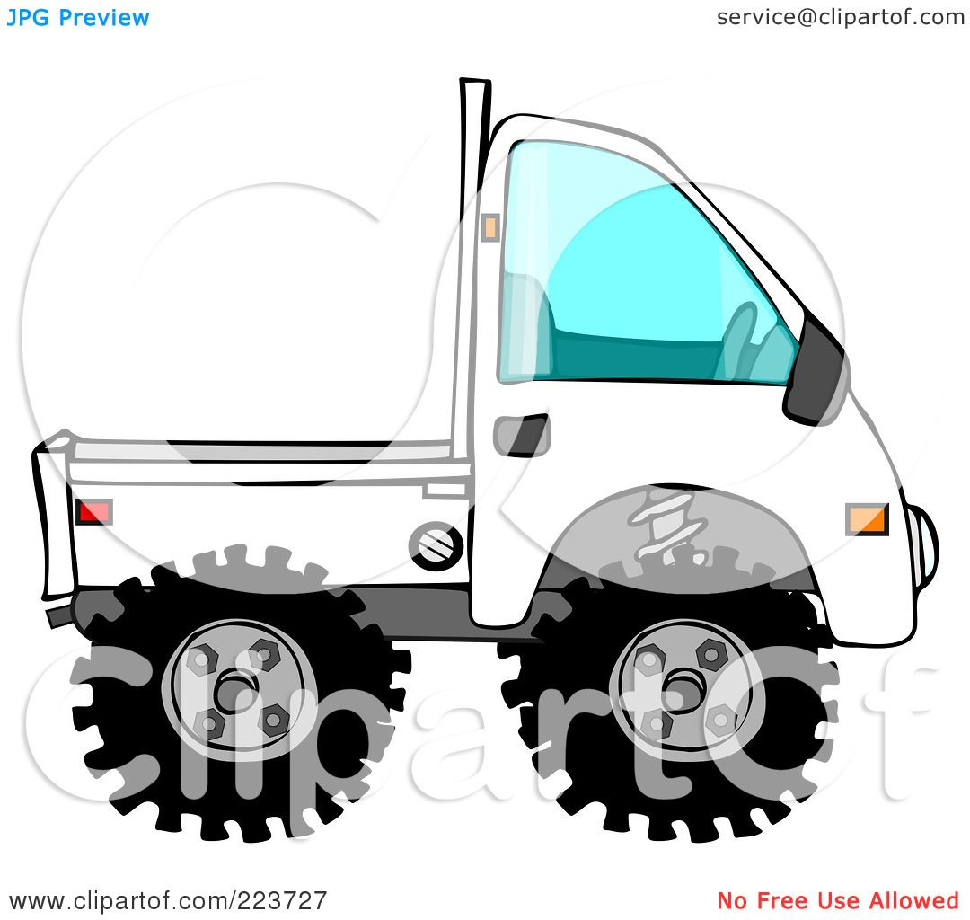 1080x1024 Royalty Free (Rf) Clipart Illustration Of A White Keimini Truck By