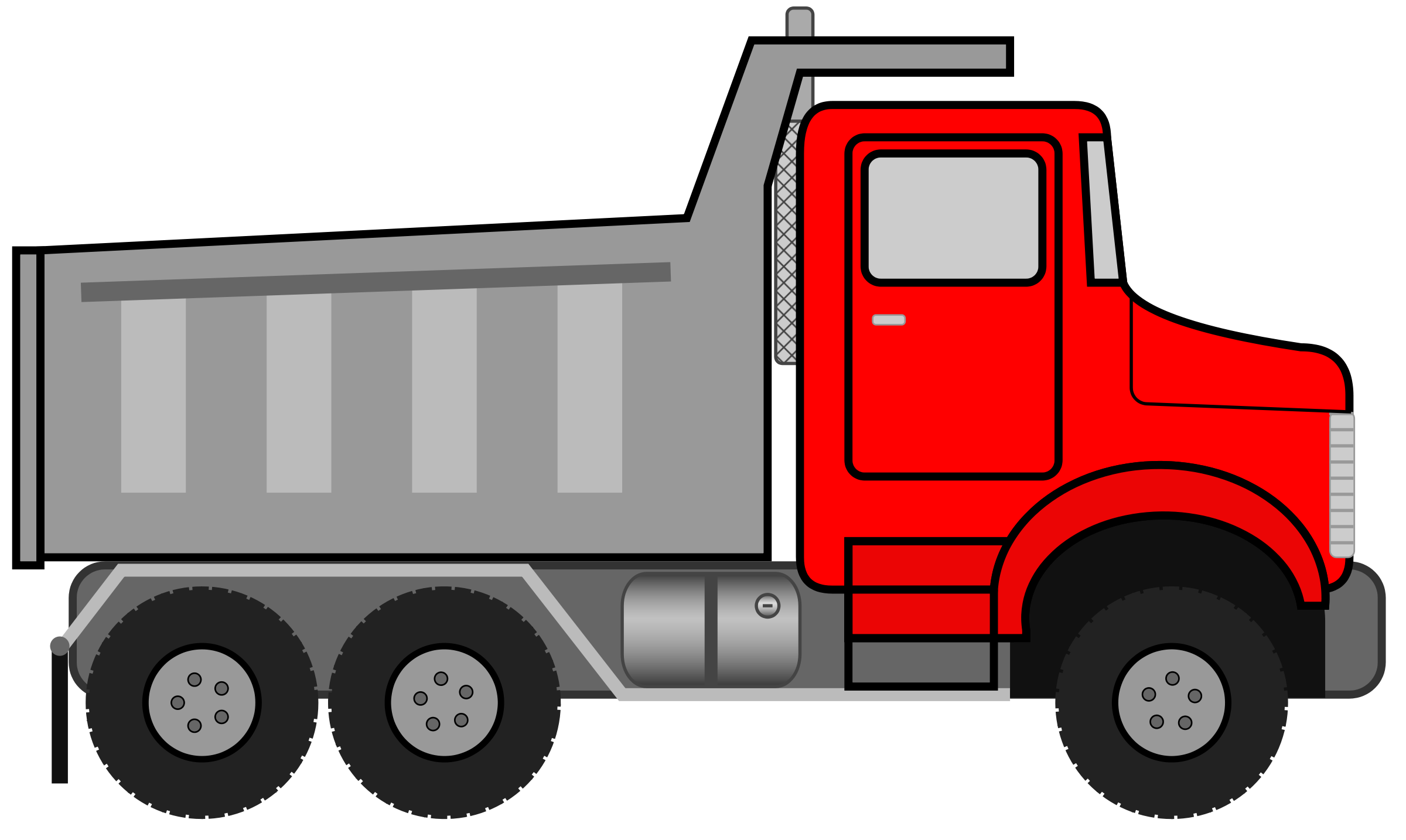 2400x1434 Truck Black And White Dump Truck Clipart Black And White Free 3 4