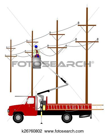 373x470 Truck Clipart Electrician