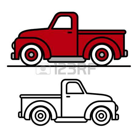 450x450 Free Vintage Truck Clipart