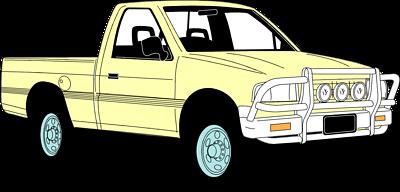 400x192 Pickup Truck Clip Art