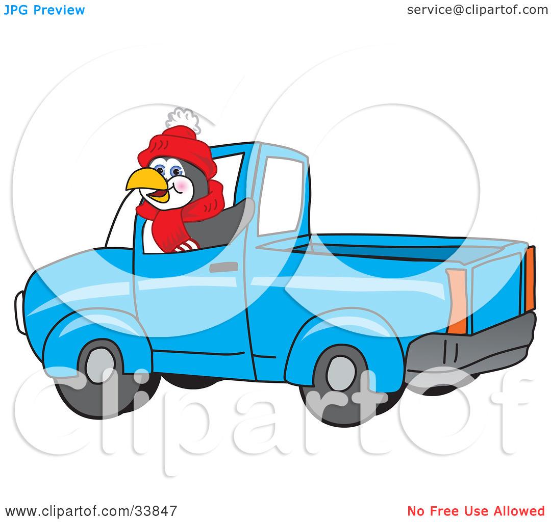 1080x1024 Blue Pickup Truck Clipart