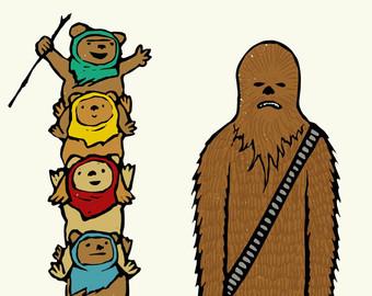 340x270 Chewbacca Art Etsy