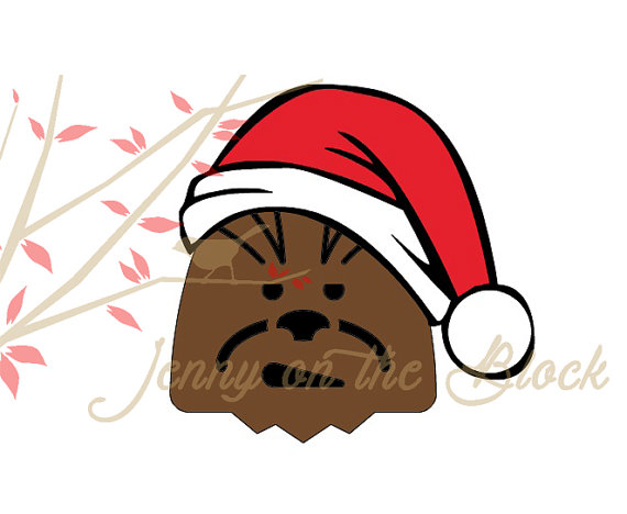 570x468 Star Wars Christmas Chewbacca Svgpngpdfjpeg Files For Cricut