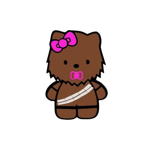535x525 Baby Hello Kitty Chewbacca Star Wars Tee By Renner1012 On Etsy