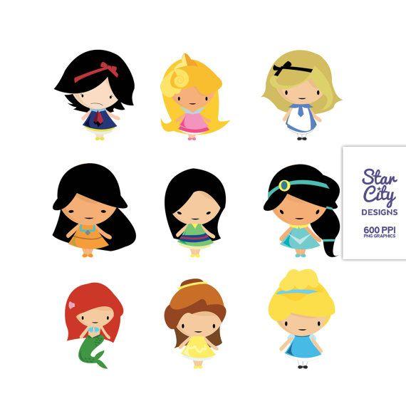 570x570 Chibi Disney Girls Clip Art Clipart, Vector Art, Graphics