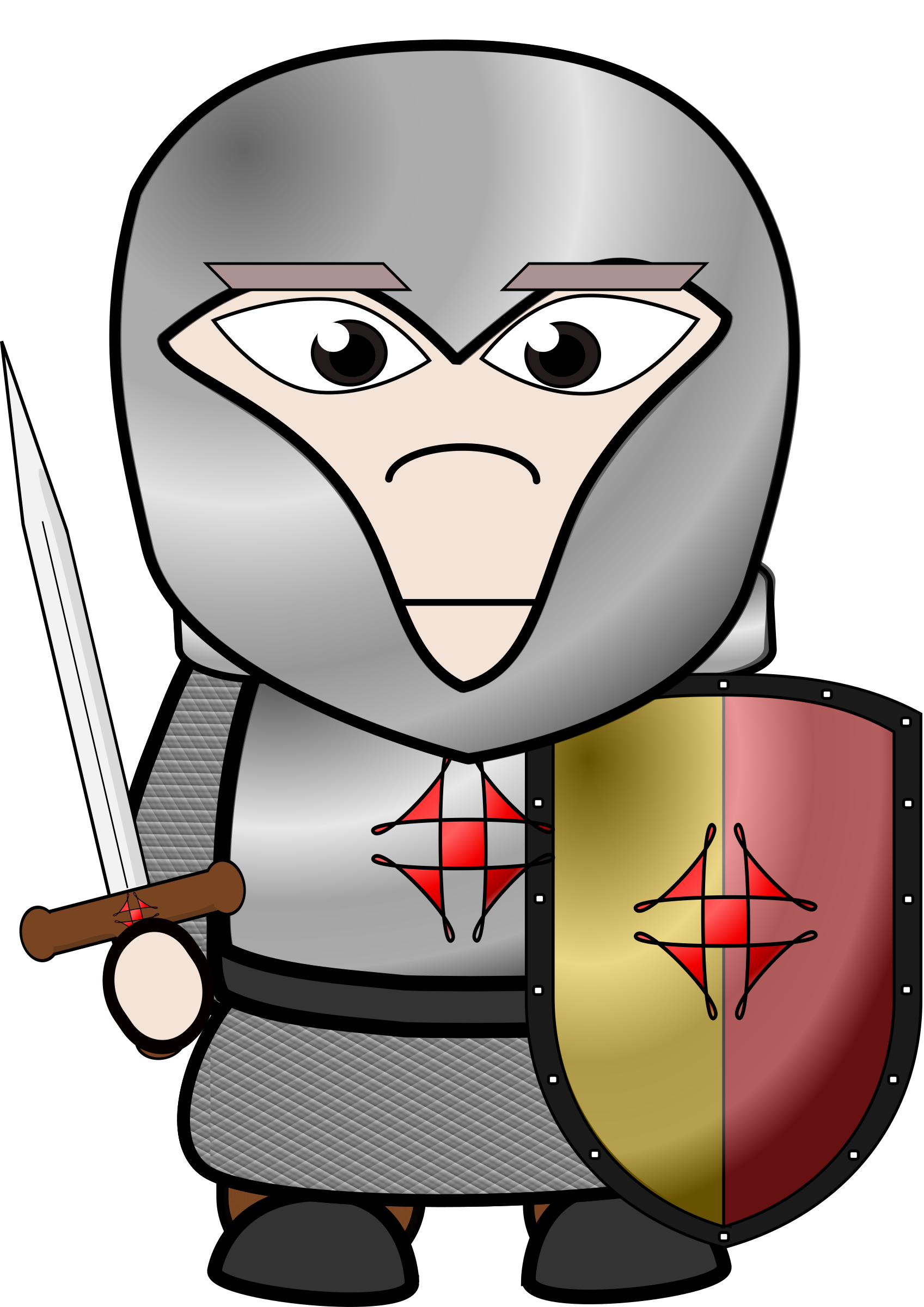 1697x2400 Chibi Knight Vector Clipart Image