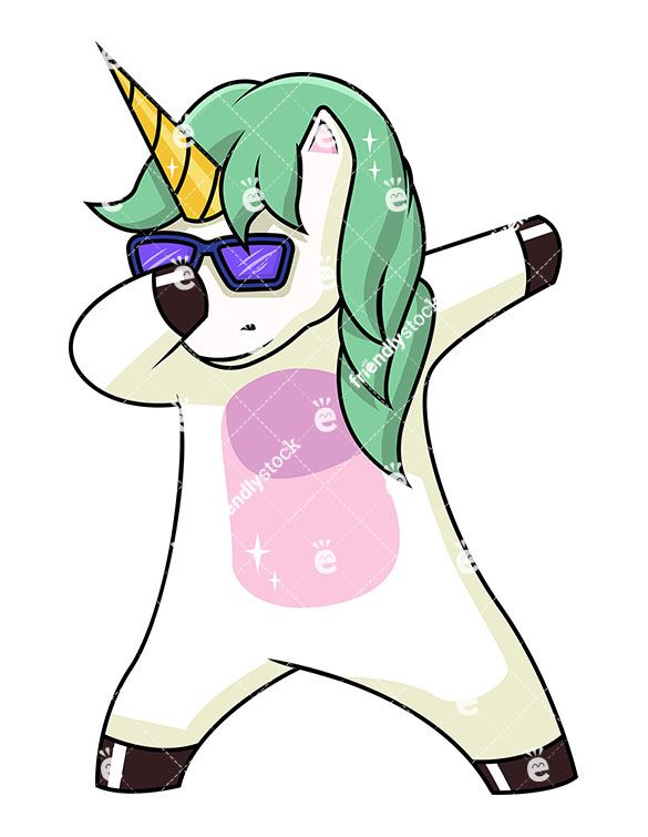 585x755 Dabbing Unicorn Cartoon Clipart