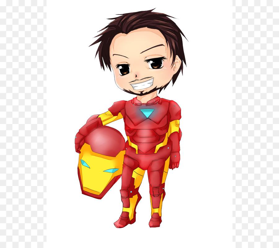 900x800 Iron Man Chibi Anime Cartoon Clip Art