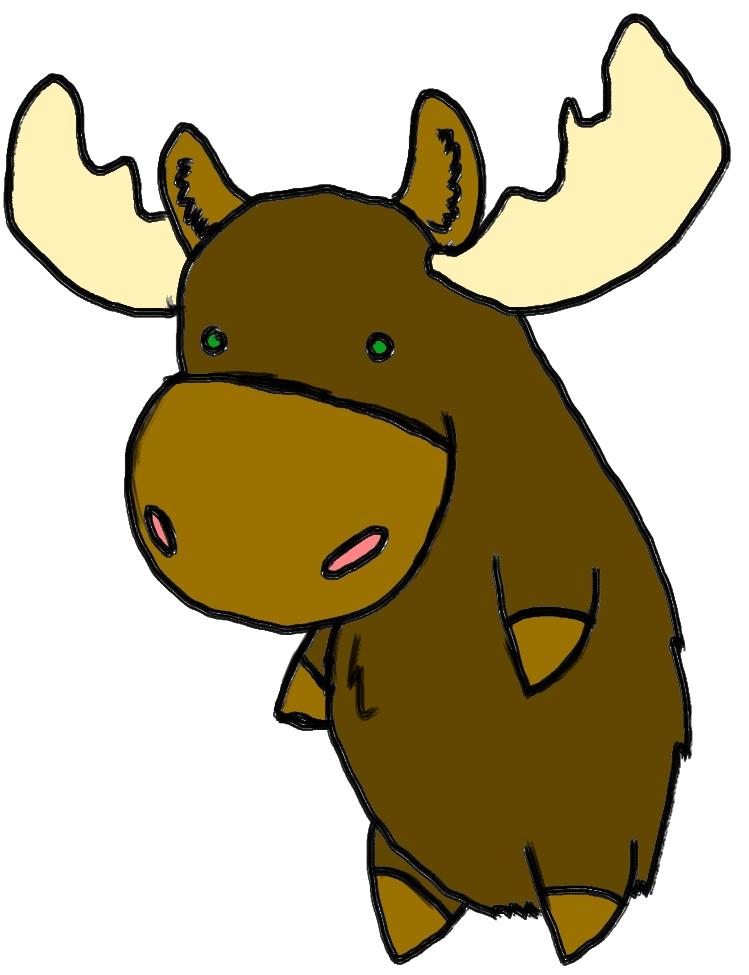 749x975 Moose Clipart Chibi