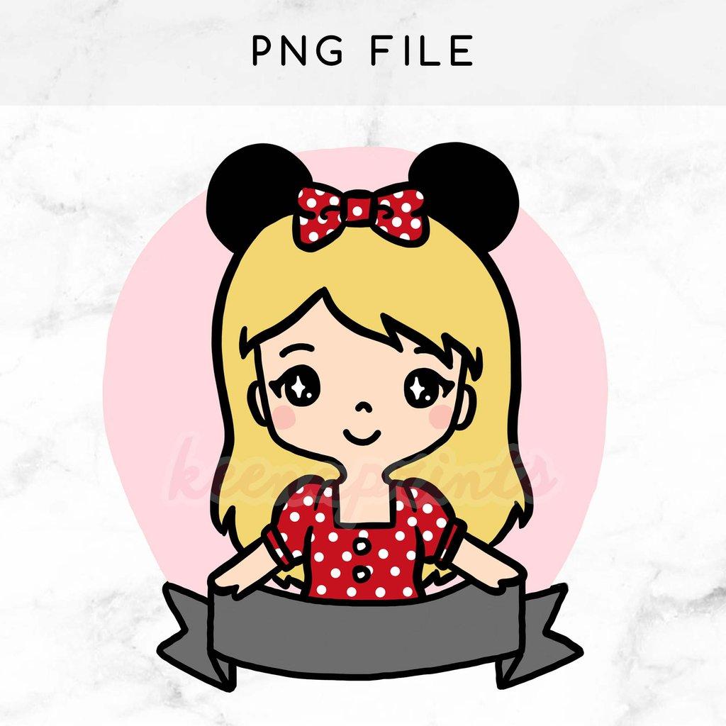 1024x1024 Pre Made Chibi Minnie Keenari Printable Clip Art Keenaprints