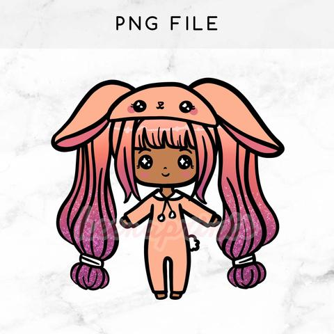 480x480 Pre Made Chibi Planner Girl Keenami Printable Clip Art Keenaprints