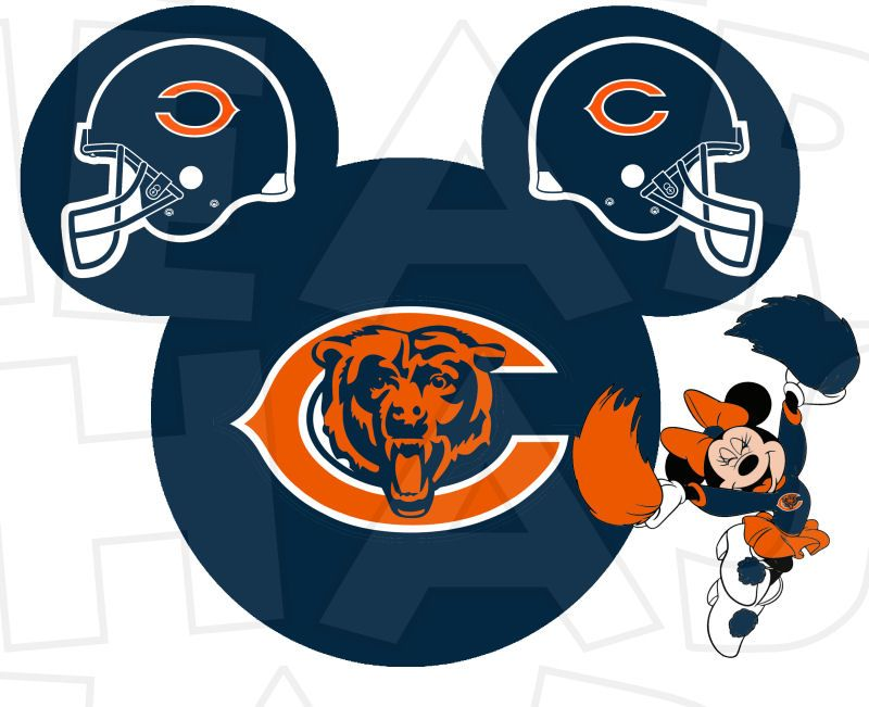 800x651 Chicago Bears Football With Minnie Mouse Instant Download Digital