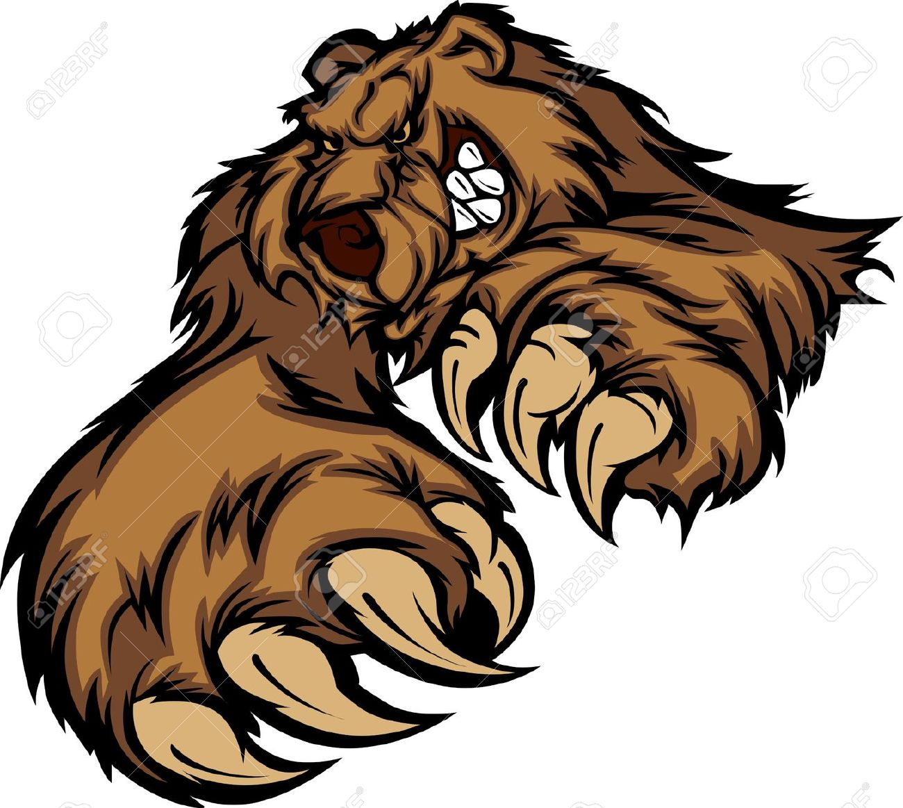 1300x1163 Grizzly Clipart Silvertip