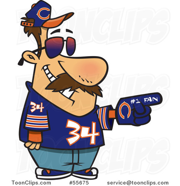 581x600 Cartoon Chicago Bears Football Fan Guy All Decked Out