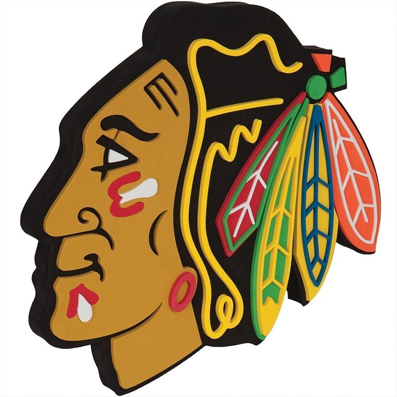 1280x1280 Chicago Blackhawks 3d Fan Foam Logo Sign Ebay