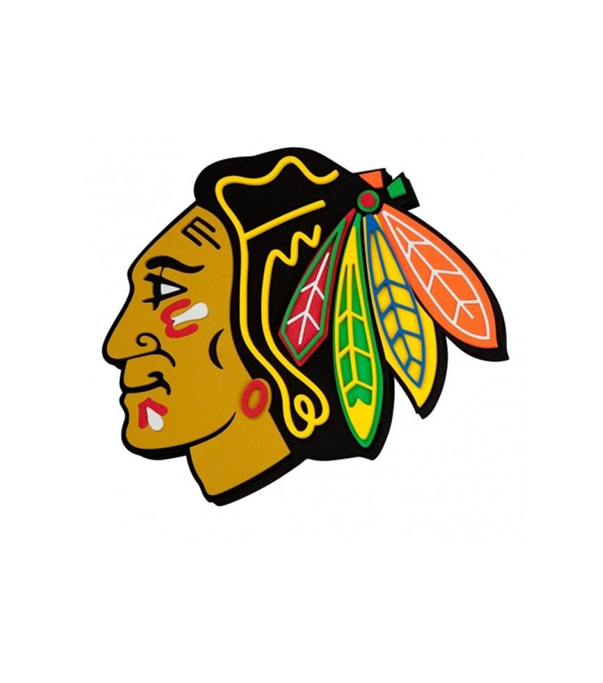 866x981 Chicago Blackhawks Nhl 3d Foam Logo Wall Sign Fan Cave Sports