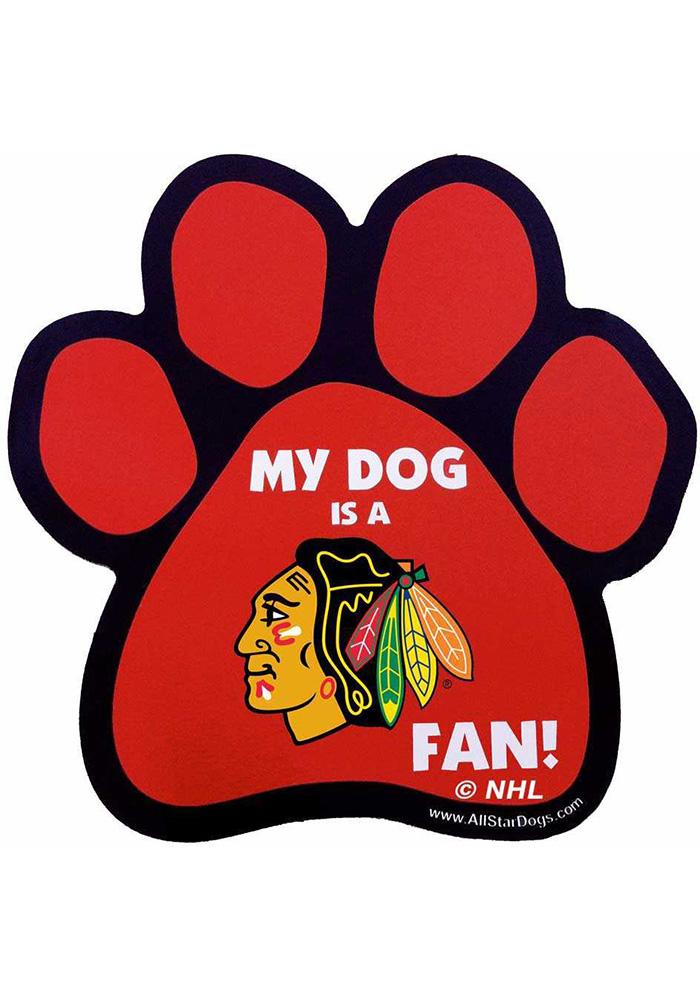 700x1000 Chicago Blackhawks Paw Pet Magnet