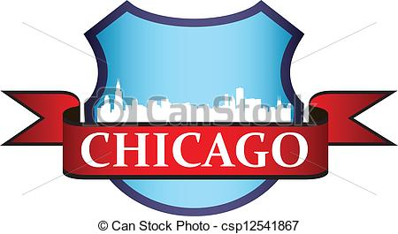 450x265 City Of Chicago Crest With High Rise Buildings Skyline Clip Art