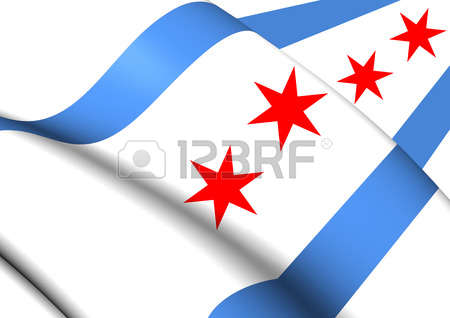 450x318 Clipart Of Chicago Flag Collection
