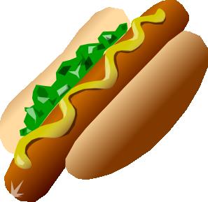 297x289 Hot Dog Clip Art