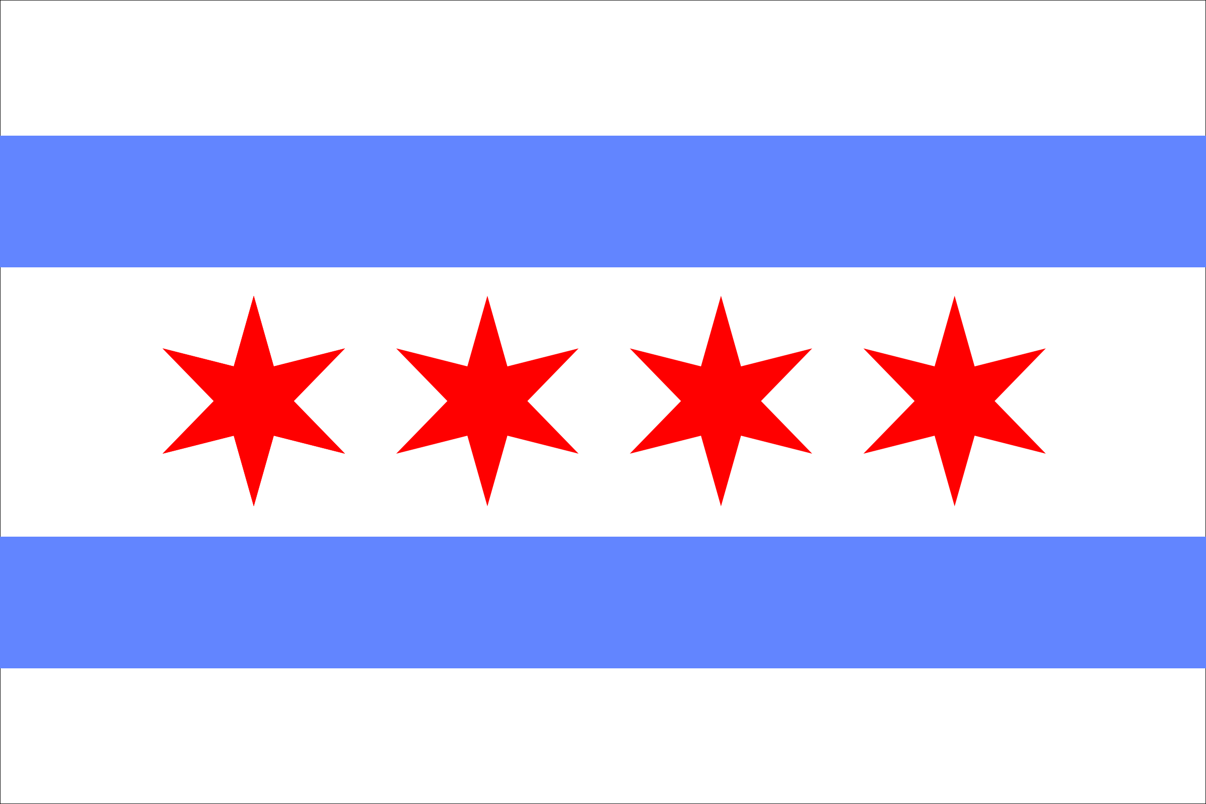 2400x1600 City Of Chicago Flag Clip Art
