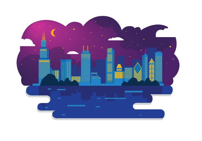 700x490 Cityscape Clipart Night Time