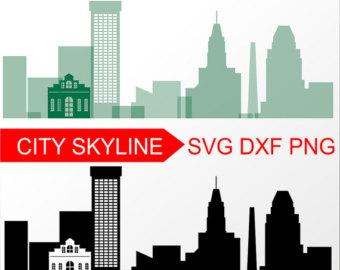 340x270 Nashville Vector Skyline Nashville Svg Silhouette Svg Dxf