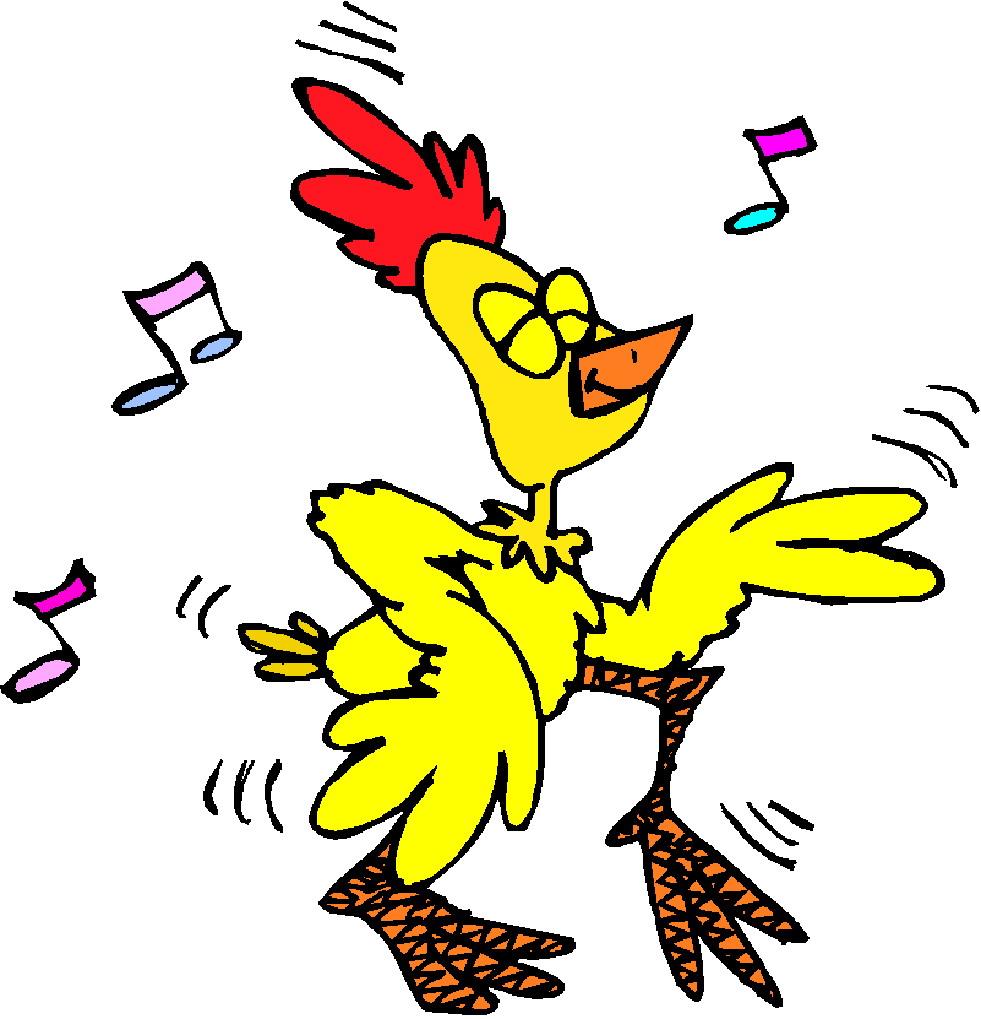 981x1019 Dancing Chicken Clipart