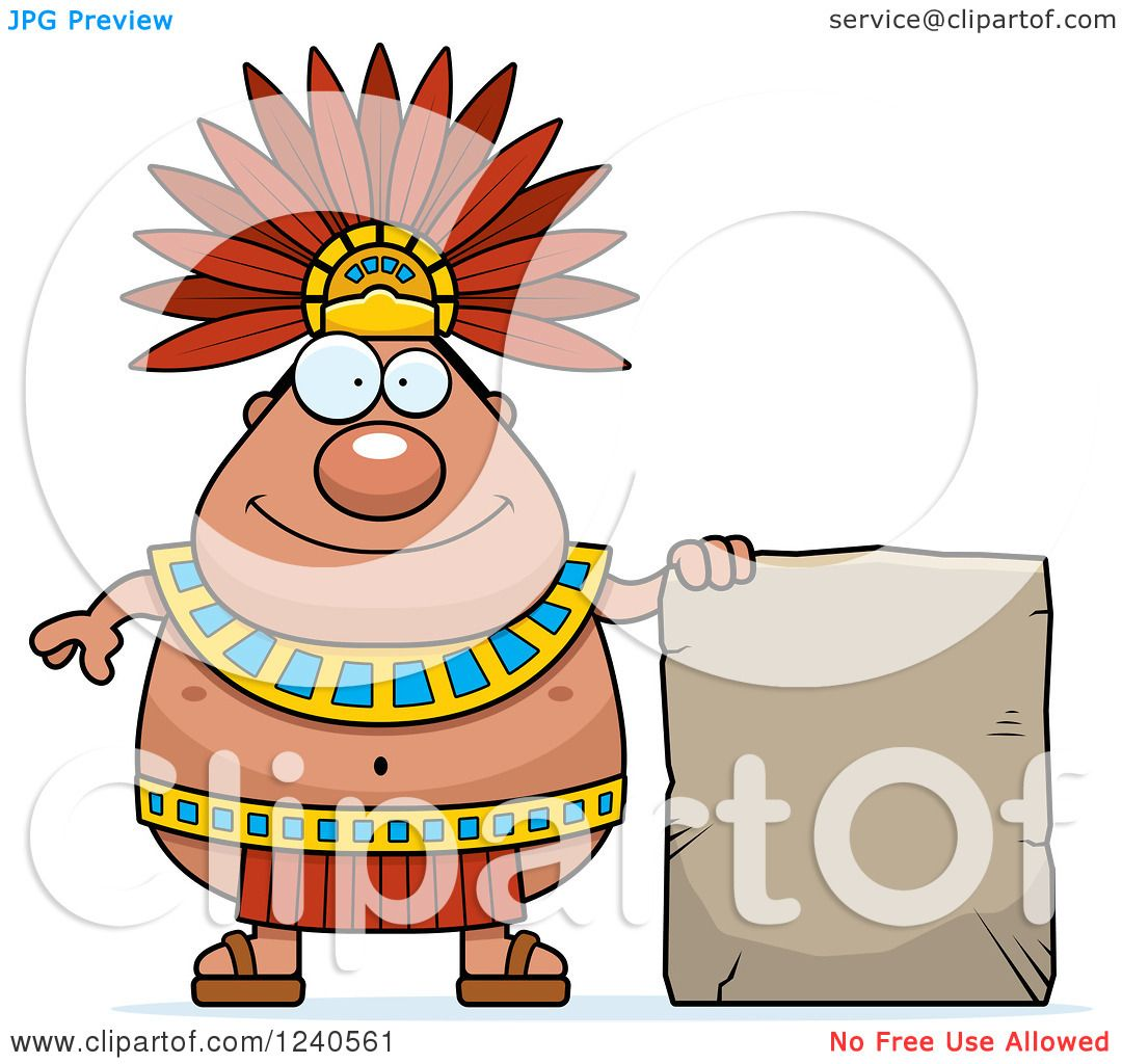 1080x1024 Clipart Of A Happy Aztec Chief King